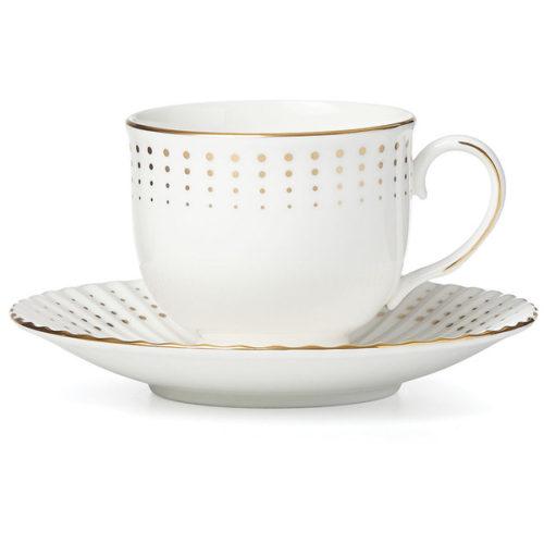 """Чашка чайная с блюдцем Lenox """"Золотой водопад"""" 150мл"""