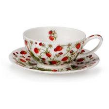 """Чашка чайная с блюдцем Dunoon """"Клубника"""" 250мл"""