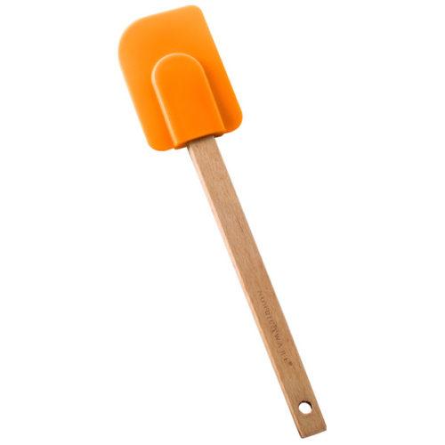 Лопатка силиконовая (оранжевая)
