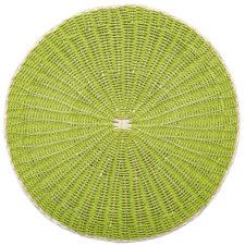 """Салфетка подстановочная круглая 38см """"Пальмовый лист"""", зеленый"""