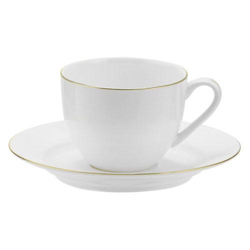 """Чашка чайная с блюдцем Royal Worcester """"Интуиция.Золотой кант"""" 220мл"""