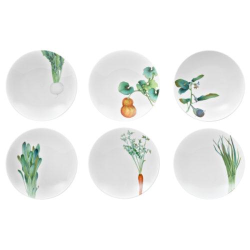 """Набор тарелок для пасты Noritake """"Овощной букет"""" 23см, 6шт, п/к"""