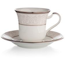 """Чашка чайная с блюдцем Noritake """"Серебряный дворец"""" 200мл"""