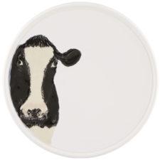 "Тарелка Bordallo Pinheiro ""Коровы"" 20см (рисунок анфас, слева)"