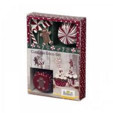 """Набор бумажных форм для кексов Birkmann 7см, 24 шт  и флажки """"Рождество"""" 12 шт"""