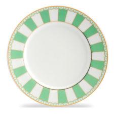 """Тарелка десертная Noritake """"Карнавал"""" 21см (зелёная полоска)"""