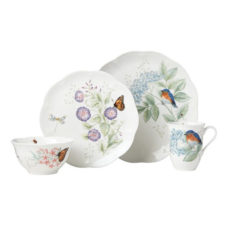 """Сервиз чайно-столовый Lenox """"Бабочки на лугу. Птицы. Синяя птица"""" 16 предметов на 4 персоны"""