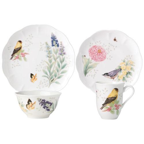 """Сервиз чайно-столовый Lenox """"Бабочки на лугу.Птицы.Щегол"""" 1/4"""