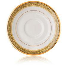 """Блюдце для чашки чайной Noritake """"Церемония,золотой кант"""" 15,5см"""