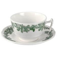 """Чашка чайная с блюдцем 200мл """"Зеленый венок (Джон Рёскин)"""""""