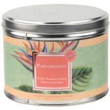 """Свеча в жестяной банке с крышкой с 3 фитил. Portmeirion """"Экзотические цветы.Райская птица"""" 13см"""