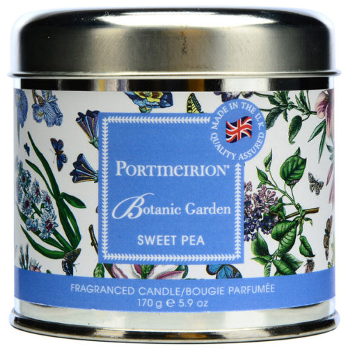 """Свеча в жестяной банке Portmeirion """"Ботанический сад.Душистый горошек"""" 7см"""