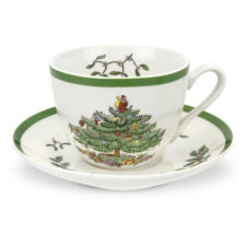 """Чашка чайная с блюдцем 200мл """"Рождественская ель"""""""