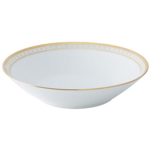 """Тарелка для пасты Noritake """"Рочестер,золотой кант"""" 19см"""