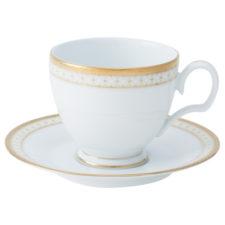 """Чашка чайная  с блюдцем Noritake """"Рочестер,золотой кант"""" 240мл"""