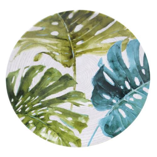 """Тарелка обеденная Certified Int. """"Пальмовые листья"""" 27см,керамика"""