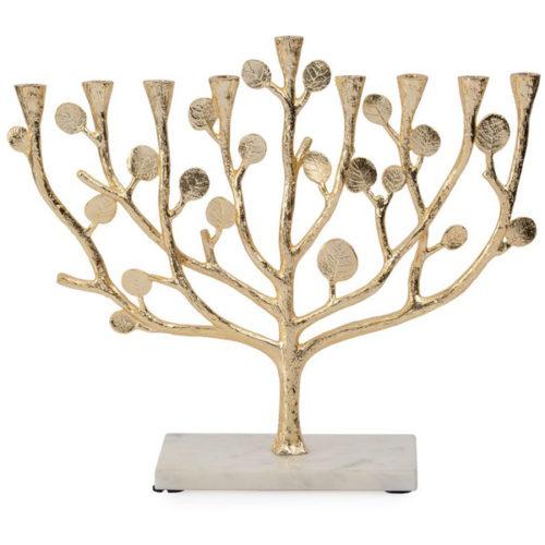 """Подсвечник на 9 свечей Michael Aram """"Ботаника"""" 35см (золотист.)"""