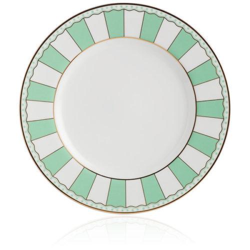 """Набор тарелок десертных Noritake """"Карнавал"""" 21см (зелёная полоска), 2шт, п/к"""