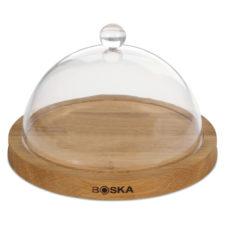 Блюдо для сыра с крышкой Boska 25см (дуб, пластик)