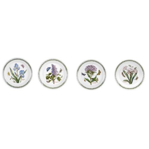 """Набор тарелок закусочных Portmeirion """"Ботанический сад"""" 20см, 4шт, (в ассортименте)"""
