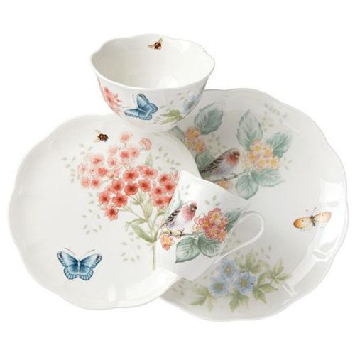 """Сервиз чайно-столовый Lenox """"Бабочки на лугу.Птицы.Зяблик"""" 1/4"""