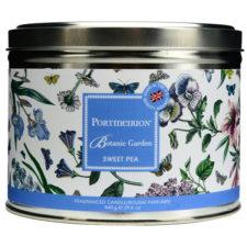 """Свеча в жестяной банке с крышкой с 3 фитил. Portmeirion """"Ботанический сад.Душистый горошек"""" 13см"""
