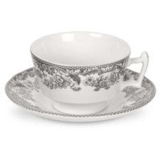 """Чашка чайная с блюдцем 200мл """"Деламер, сельские мотивы"""""""