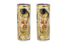 Набор из 2-х стопок для водки Поцелуй (Г.Климт) в подарочной упаковке