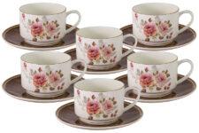 Набор 12 предметов Английская роза : 6 чашек + 6 блюдец