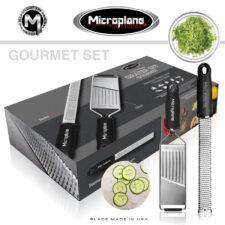 Подарочный набор: Слайсер Gourmet и терка Premium Classic для цедры/сыра, цвет чёрный Microplane