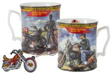 Кружка с брелоком Мотоцикл Харлей - Дэвидсон Спортстер 883, юноша, фарфор Carmani