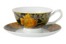 Чашка с блюдцем Анемон (У. Моррис), фарфор Carmani