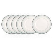 """Набор из 6 тарелок закусочных Noritake """"Богарт платиновый"""" 22см"""