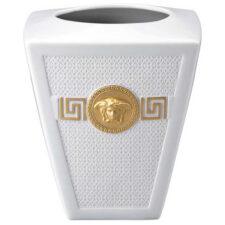"""Ваза 15см """"Символ Версаче"""" (белая, золотая Медуза)"""