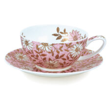 """Чашка чайная с блюдцем Dunoon """"Нуово"""" 250мл (розовая)"""