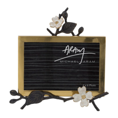 Рамка для фото на подставке Michael Aram Цветок кизила 10х15см, латунь