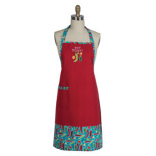 """Фартук Kay Dee Designs """"Перцы"""" 66х86см, с вышивкой на кармане, 66х86см, хлопок"""