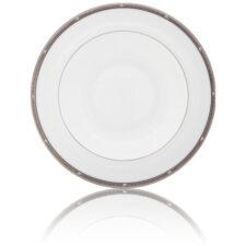 """Тарелка суповая Noritake """"Рочель,платиновый кант"""" 21,5см"""