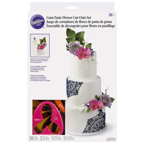 Набор штампов для вырезания цветов из теста и мастики Wilton, 28шт