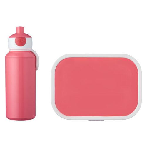 Набор детский ланч-бокс и бутылка для воды Mepal 400мл+750мл (розовый)