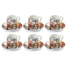 """Набор кофейных чашек с блюдцами """"Сюрприз.Новогодняя ночь"""",на 6 персон, п/к"""