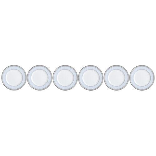 """Набор из 6 тарелок закусочных Noritake """"Трефолио,платиновый кант"""" 23см"""