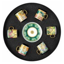 """Набор чашек для эспрессо с блюдцами Rosenthal Versace """"Мир джунглей"""" 100мл,6 шт в п/к"""