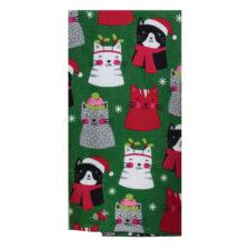 """Полотенце кухонное Kay Dee Designs """"Рождественские котята"""" 41х66см, хлопок (зелёное)"""