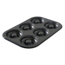 Форма для выпечки 6 пончиков Nordic Ware 31х22см, антипригарная, сталь (черная)
