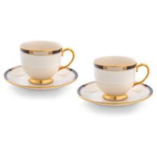 """Набор из 2 чашек чайных с блюдцами Lenox """"Подлинные ценности"""" 210мл"""