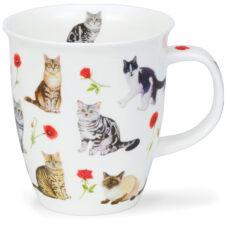 """Кружка Dunoon """"Кошки в красных цветах.Невис"""" 480мл"""