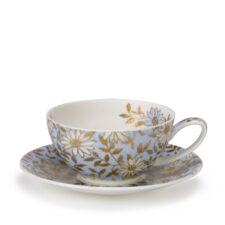 """Чашка чайная с блюдцем Dunoon """"Аква"""" 250мл"""