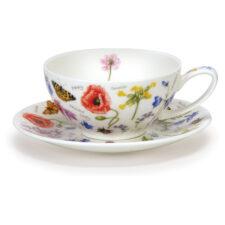 """Чашка чайная с блюдцем Dunoon """"Полевые цветы"""" 250мл"""