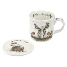 "Кружка с подставкой Royal Worcester ""Забавная фауна"", ""Осёл и малиновка"" 310мл"